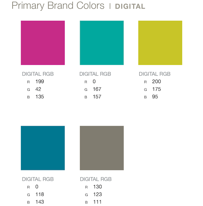 LexArts Brand Guidelines Primary Brand Colors - Digital