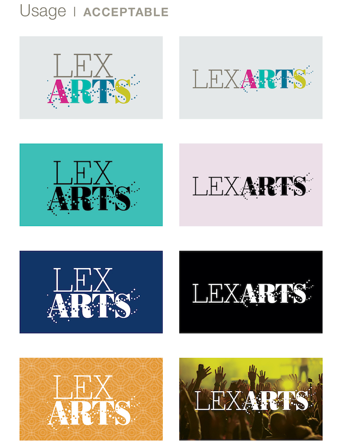 LexArts Brand Identity Acceptable Usage