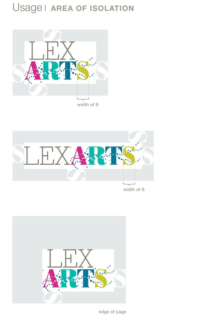 LexArts Brand Identity Usage Area Of Isolation