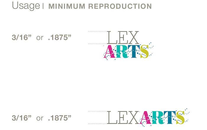 LexArts Brand Identity Usage Minimum Reproduction